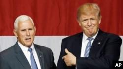 Donald Trump Da Gwamnan Indiana Mike Pence