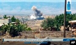Rus ve Suriye uçakları bir hafta önce İdlib'i bombalamaya başlamıştı