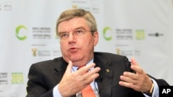 International Olympic Committee (IOC) President Thomas Bach during an interview in Johannesburg, South Africa, Nov. 13, 2013.