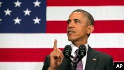 """""""Si llegan, los enviaremos de vuelta y, lo que es más importante, podrían no llegar"""", dijo Obama."""