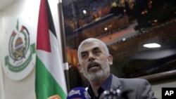 Yehiyeh Sinwar, pemimpin kelompok militan Hamas di Gaza, 10 Mei 2018. (Foto: dok).