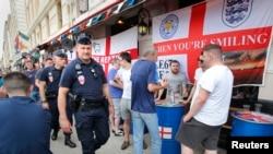 Des supporters anglais dans Marseille, 10 juin 2016
