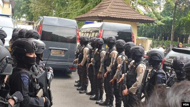 Kepolisian Indonesia siaga untuk menghadapi situasi pada Rabu, 22 Mei 2019 mendatang (VOA/Sasmito).