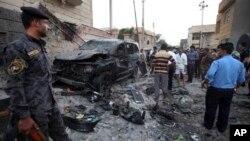 巴格達地區汽車爆炸現場