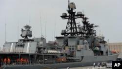 俄羅斯海軍戰艦。(資料照)