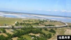 View of Dhola Sadiya bridge.