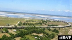 View of Dhola Sadiya bridge.
