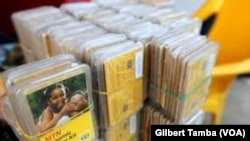Des cartes SIM de MTN, à Abuja, le 13 décembre 2020.