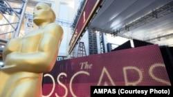 Les préparations continuent pour la 89e cérémonie des Oscars, à Los Angeles, le 23 février 2017.