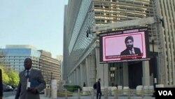 Kantor pusat Bank Dunia di Washington, DC. Pertemuan tahunan musim semi Bank Dunia-IMF berlangsung di Washington akhir pekan ini.