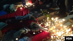 快讯:居港法国人烛光悼念巴黎遇难者