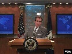 美国国务院发言人柯比(美国之音叶林摄)