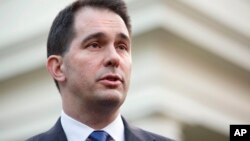 File - Wisconsin Governor Scott Walker.