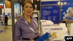 Наталья Дитковская, специалист по борьбе с курением, на конференции в Лилле