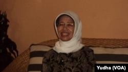 Ibunda Presiden Jokowi, Sudjiatmi (Foto: VOA/Yudha)