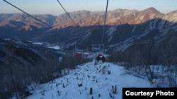 지난해 1월 새에 맞춰 개장한 북한 강원도 원산의 마식령 스키장. '우리투어' 사진 제공.