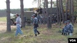 2015年夏季在俄罗斯参加军事比赛的中国军人。