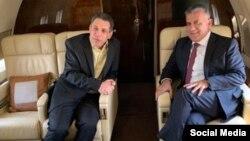 نزار زکا (چپ) شهروند لبنانی دارای اقامت آمریکا از سوی ایران به جاسوسی متهم شده بود.