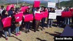 تجمع فعالان مدنی معترض به خشونت علیه زنان در شهر مریوان
