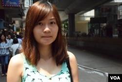 香港樹仁大學新聞與傳播學系學生郭同學。(美國之音湯惠芸攝)