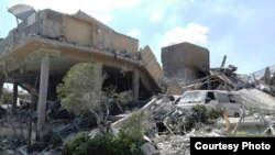 敘利亞官方公佈科學中心在美英法空襲中被擊毀照片