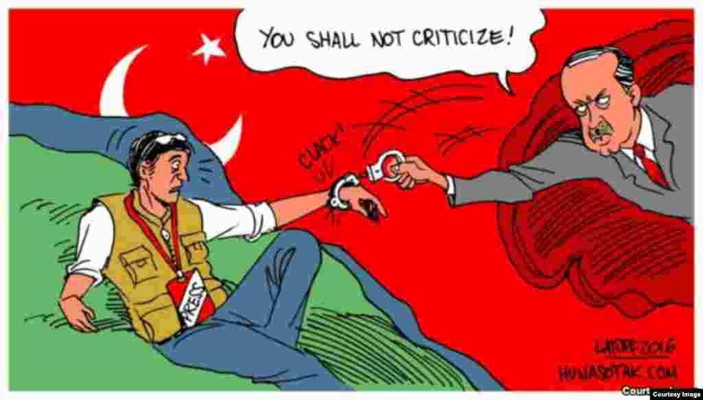 Zanen barkwancin dake nuna yadda ake keta hakkin masu aikin jarida a Turkiyya