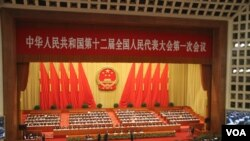 组图:中国第十二届全国人大第一次全体会议