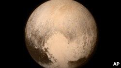 Foto de Plutón tomada por la sonda espacial New Horizons.