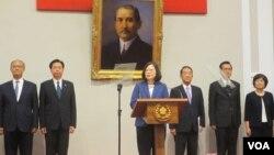 台湾总统府星期四召开记者会宣布APEC会议总统特使人选