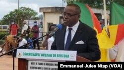 Pr Louis Richard Ndjock secrétaire général du ministère de la Santé publique, lors du lancement du mois national de lutte contre les hépatites virales, à Bertoua le 29 Juillet 2020. (VOA/Emmanuel Jules Ntap)