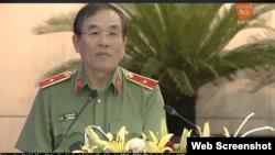 Thiếu tướng Vũ Xuân Viên, Giám đốc Công an Tp. Đà Nẵng, phát biểu sáng ngày 11/7/2019. TV Da Nang