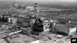 지난 1986년 4월26일 발생한 체르노빌 원전 폭발 사고 후 모습.