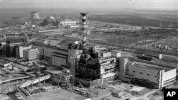 1986年切爾諾貝利核電站爆炸後烏克蘭當局發表的照片