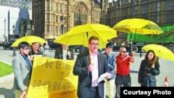 英文保守黨人權委員會副主席羅傑斯曾聲援香港的雨傘運動(蘋果日報圖片)