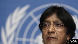 Komisaris Tinggi HAM PBB, Navi Pillay. PBB mengecam Tiongkok karena menindas para pembangkak politik.