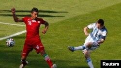 ارجنٹائن اور ایران کے درمیان میچ میں اضافی وقت کے دوران 91 ویں منٹ میں میسی نے اپنا جادو دکھایا.