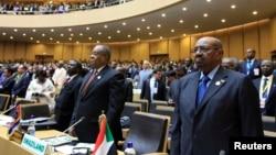 30일 에티오피아 수도 아디스 아바바에서 아프리카연합 정상회담이 열린 가운데, 회원국 정상들이 개막식에 참가했다.