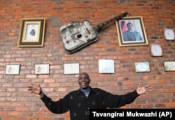 In this photo taken Thursday June 30, 2011 Zimbabwe music superstar, Oliver Mutukudzi at his music academy in Norton about 40 kilometres from Harare.