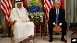 Дональд Трамп и Тамим бин Хамад Аль Тани
