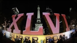 Monument Circle in Indianapolis, Indiana. The Super Bowl will be played Sunday at the indoor Lucas Oil Stadium.