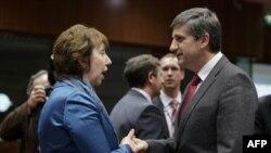 Visoka predstavnica EU Ketrin Ešton i austrijski šef diplomatije Mihael Špindeleger