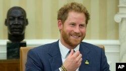 Hoàng tử Anh Harry tại Tòa Bạch Ốc, ngày 28/10/2015.