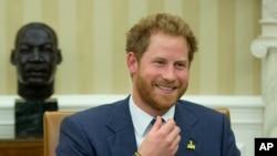 Pangeran Harry dari Inggris dalam kunjungan ke Gedung Putih, 2015. (AP/Manuel Balce Ceneta)