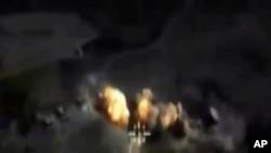 Ruski bombaški napad u Siriji (snimak ruskog Ministarstva odbrane)