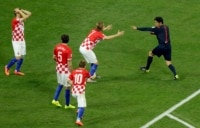 Croatian players were outraged over what they thought was an unjustified penalty.