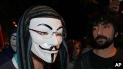 Những người biểu tình ở Công viên Kugulu, ở Ankara, Thổ Nhĩ Kỳ, ngày 7/6/2013.