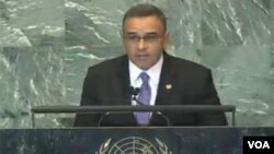 Funes, salvadorean president, Sep 23, 2011, UN