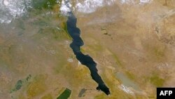 FILE - A NASA satellite file image shows Lake Tanganyika in East Africa.