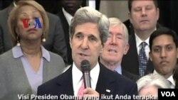 ທ່ານ John Kerry ລັດທະມົນຕີການຕ່າງປະເທດ ຄົນໃໝ່ ເຂົ້າຮັບ ຕໍາ ແໜ່ງ ໃນວັນສຸກແລ້ວນີ້.