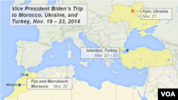 Vice President Joe Biden, Nov. 19, oversea itinerary